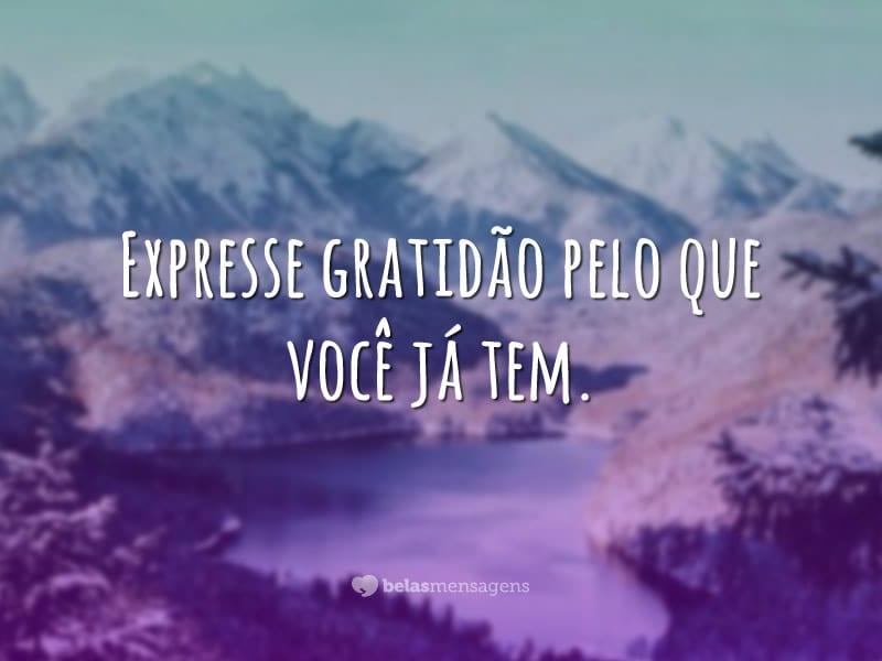 Expresse gratidão
