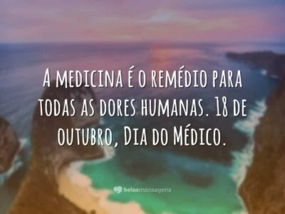 A medicina é o remédio