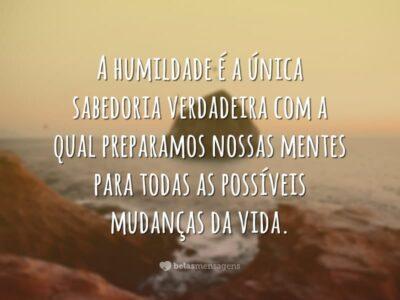 A humildade é sabedoria