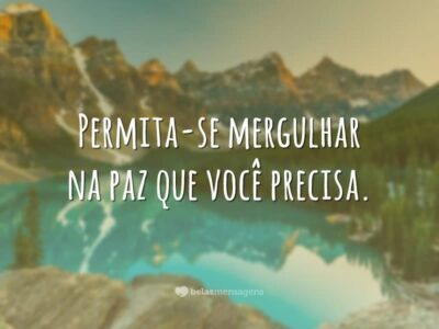 Permita-se mergulhar