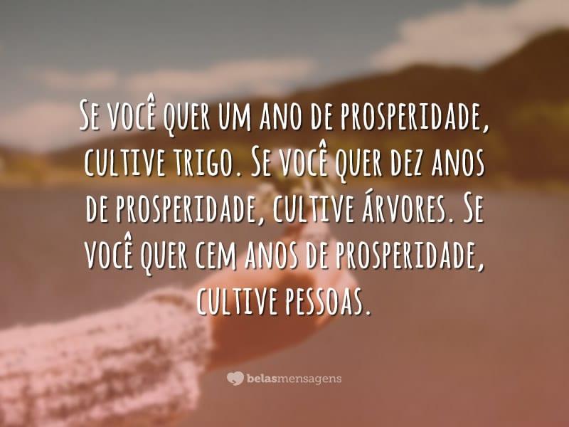 Cultive pessoas