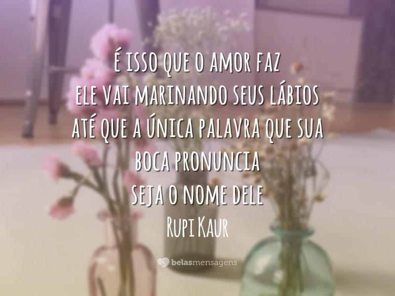 É isso que o amor faz