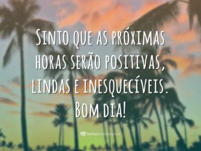 Bom dia com positividade