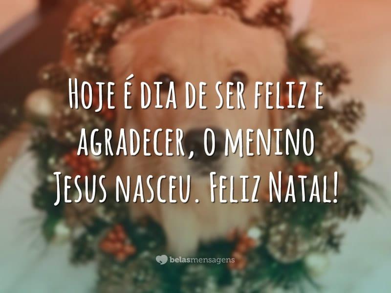 Hoje é dia de ser feliz e agradecer, o menino Jesus nasceu. Feliz Natal!