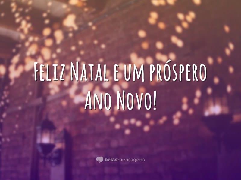 Feliz Natal e um próspero Ano Novo!