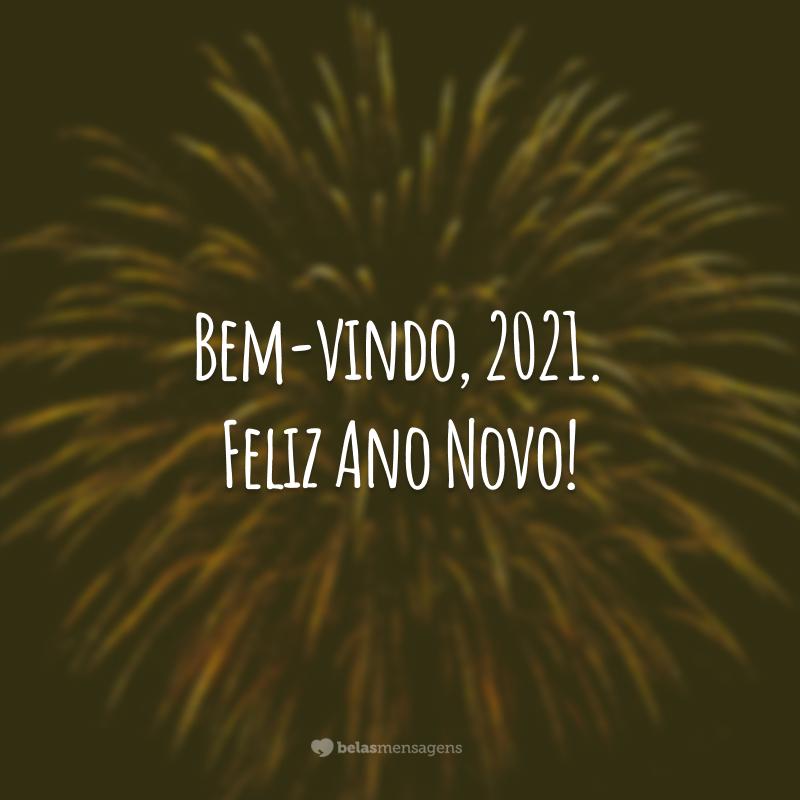 Bem-vindo, 2021. Feliz Ano Novo!