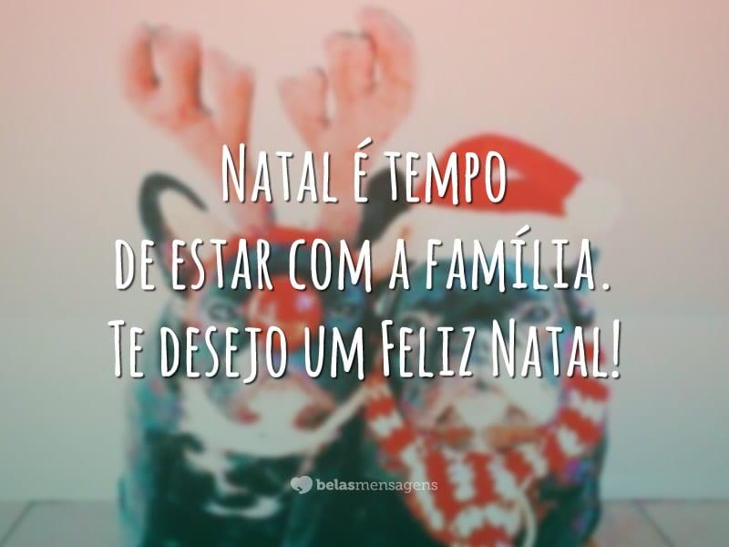 Natal é tempo de estar com a família. Te desejo um Feliz Natal!