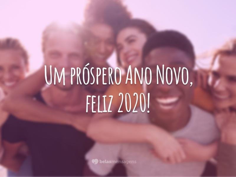 Um próspero Ano Novo, feliz 2020!