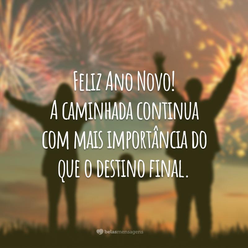 Feliz Ano Novo! A caminhada continua com mais importância do que o destino final.