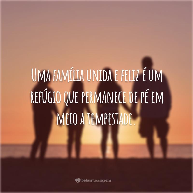 Uma família unida e feliz é um refúgio que permanece de pé em meio a tempestade.